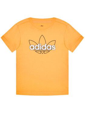 adidas adidas Tričko Unisex Sprt Collection Graphic GN2288 Oranžová Regular Fit