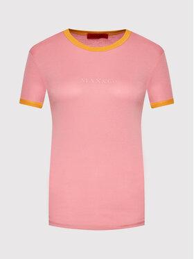 MAX&Co. MAX&Co. Тишърт Damiere 69719221 Розов Slim Fit