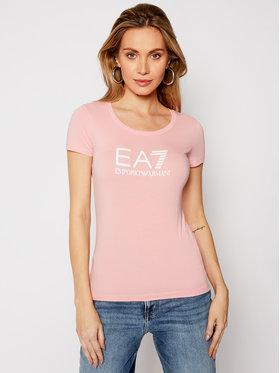 EA7 Emporio Armani EA7 Emporio Armani T-shirt 8NTT63 TJ12Z 1416 Ružičasta Slim Fit