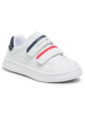 Tommy Hilfiger Tommy Hilfiger Laisvalaikio batai Low Cut Velcro Sneaker T1B4-31079-0193 M Balta