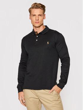 Polo Ralph Lauren Polo Ralph Lauren Тениска с яка и копчета Lsl 710721148008 Черен Slim Fit