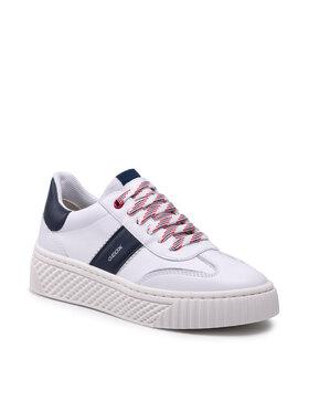 Geox Geox Sneakersy D Licena B D04HSB 08554 C0899 Biela