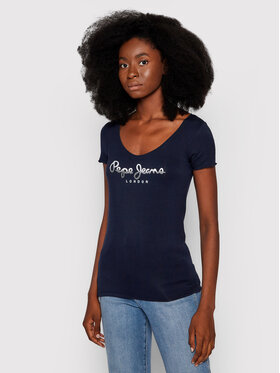 Pepe Jeans Pepe Jeans T-Shirt Belinda PL504978 Tmavomodrá Regular Fit