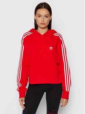 adidas adidas Bluza adicolor Classics H34614 Czerwony Relaxed Fit