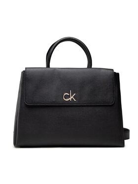 Calvin Klein Calvin Klein Дамска чанта Re-Lock Tote W/Flap Md Черен