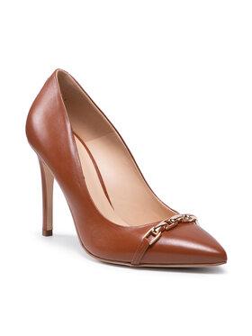 Solo Femme Solo Femme Pantofi cu toc subțire 34319-32-K78/000-04-00 Maro