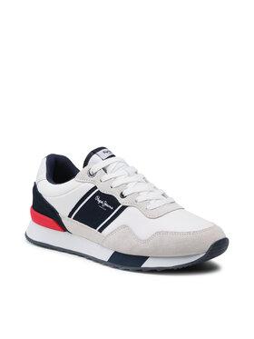Pepe Jeans Pepe Jeans Sneakersy Cross 4 Court PMS30757 Biela