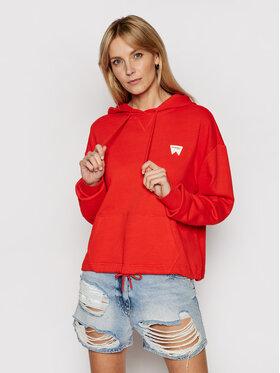 Wrangler Wrangler Sweatshirt Drawcord W6Q7HAR06 Rot Boxy Fit