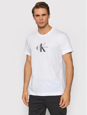 Calvin Klein Jeans Calvin Klein Jeans Tričko J30J318691 Biela Regular Fit
