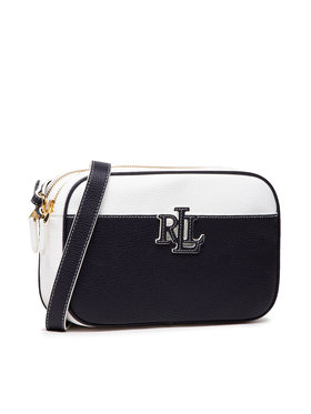 Lauren Ralph Lauren Lauren Ralph Lauren Handtasche Pebbled Leather Carrie Crossbody 431837540003 Dunkelblau