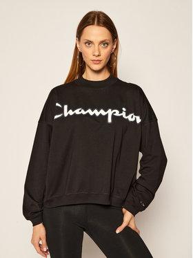 Champion Champion Bluza Script Logo 113197 Czarny Oversize
