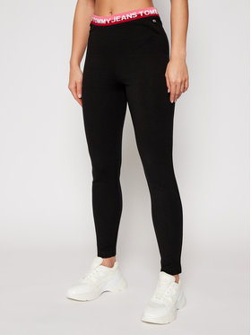 Tommy Jeans Tommy Jeans Leggings Tjw Branded Waistband DW0DW08993 Nero Slim Fit