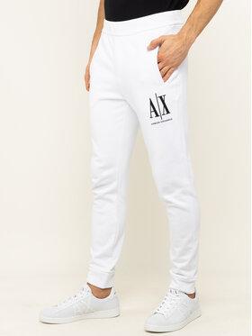 Armani Exchange Armani Exchange Pantaloni da tuta 8NZPPA ZJ1ZZ 1100 Bianco Regular Fit