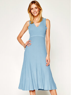 MICHAEL Michael Kors MICHAEL Michael Kors Úpletové šaty MS98YMMBFD Modrá Regular Fit
