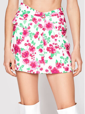 For Love & Lemons For Love & Lemons Mini sukně Janelle CBS1721 Bílá Slim Fit
