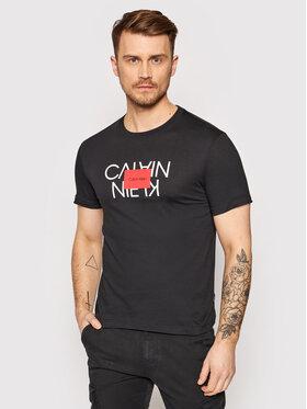 Calvin Klein Calvin Klein T-Shirt Reversed Logo K10K106489 Černá Regular Fit