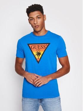Guess Guess T-shirt F1GI01 J1311 Blu scuro Slim Fit