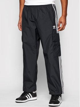 adidas adidas Donji dio trenerke adicolor Classics 3-Stripes GN3449 Crna Relaxed Fit