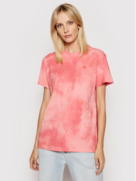 Converse Converse T-shirt Wash Effect 10021466.A03 Rose Standard Fit