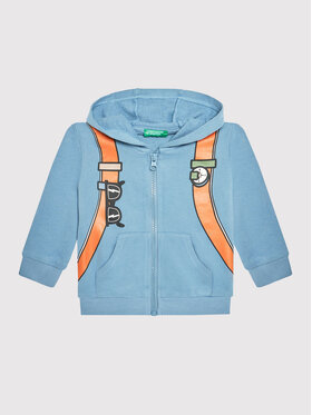 United Colors Of Benetton United Colors Of Benetton Sweatshirt 3J74C5000 Bleu Regular Fit