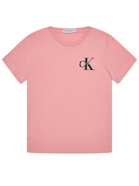 Calvin Klein Jeans Calvin Klein Jeans T-Shirt Chest Monogram IG0IG00573 Růžová Regular Fit