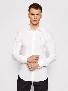 Tommy Jeans Tommy Jeans Риза DM0DM04405 Бял Slim Fit