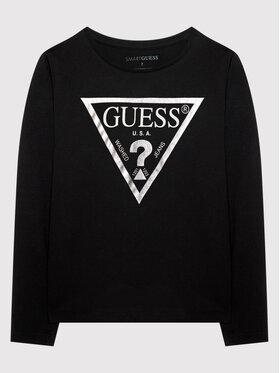 Guess Guess Bluzka J84I36 K8HM0 Czarny Regular Fit