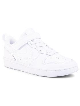 Nike Nike Boty Court Borough Low 2 (Psv) BQ5451 100 Bílá
