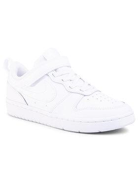 Nike Nike Обувки Court Borough Low 2 (Psv) BQ5451 100 Бял