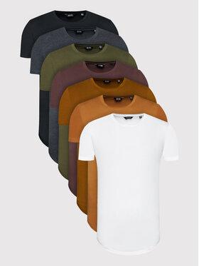 Only & Sons Only & Sons Súprava 7 tričiek Matt Life Long 22012787 Farebná Regular Fit