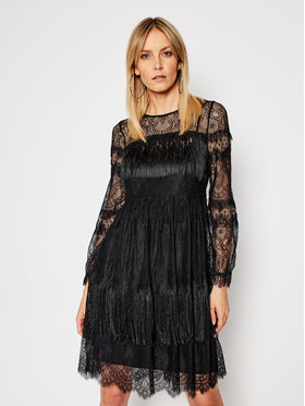 TwinSet TwinSet Коктейлна рокля 202TP2374 Черен Reguler Fit