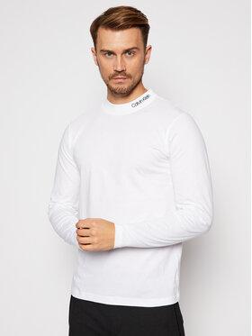 Calvin Klein Calvin Klein Marškinėliai ilgomis rankovėmis Logo Mock K10K105959 Balta Regular Fit