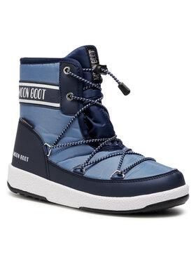 Moon Boot Moon Boot Śniegowce Jr Boy Mid Wp 2 34052500004 D Niebieski