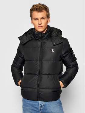 Calvin Klein Jeans Calvin Klein Jeans Пухено яке J30J318412 Черен Regular Fit