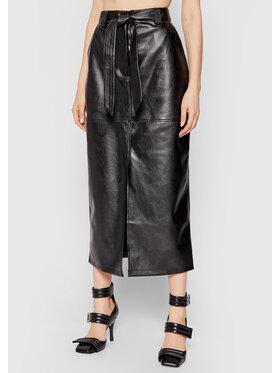 NA-KD NA-KD Sukně z imitace kůže 1018-007276-0002-581 Černá Regular Fit
