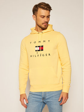 TOMMY HILFIGER TOMMY HILFIGER Суитшърт Flag Hoody MW0MW14203 Жълт Regular Fit