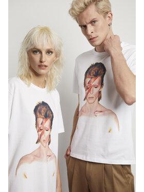 Vistula Vistula T-Shirt Unisex David Bowie By Duffy 1 XA1322 Biały Regular Fit