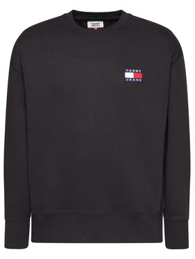 Tommy Jeans Tommy Jeans Sweatshirt Tjm Tommy Badge Crew DM0DM06592 Schwarz Regular Fit
