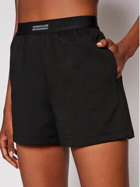 Calvin Klein Jeans Calvin Klein Jeans Szorty materiałowe Milano J20J215564 Czarny Regular Fit