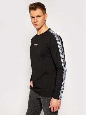 Guess Guess Marškinėliai ilgomis rankovėmis U0BA32 JR02U Juoda Regular Fit