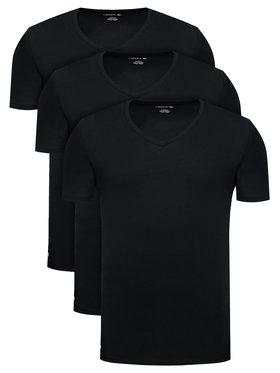Lacoste Lacoste Súprava 3 tričiek TH3374 Čierna Slim Fit