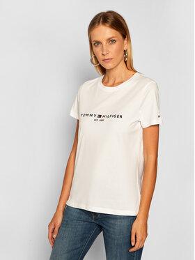 Tommy Hilfiger Tommy Hilfiger T-Shirt Th Ess Tee WW0WW28681 Biały Regular Fit