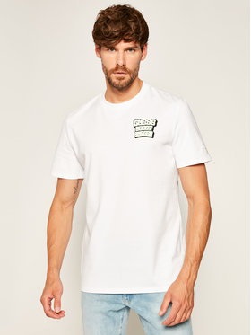 Guess Guess T-Shirt Beast Burer Rn Ss Tee M0YI42 K8FQ0 Bílá Regular Fit