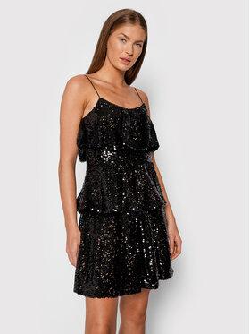 TWINSET TWINSET Koktejlové šaty 212TT2230 Černá Regular Fit