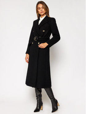 MICHAEL Michael Kors MICHAEL Michael Kors Gyapjú kabát MF02J6ZF8P Fekete Regular Fit
