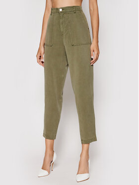 Guess Guess Kalhoty z materiálu W1GB71 WDP82 Zelená Regular Fit