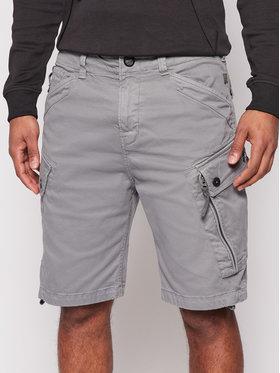 G-Star Raw G-Star Raw Bavlnené šortky Roxic D14034-C096-B576 Sivá Regular Fit