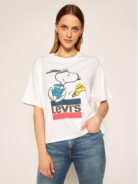 Levi's® Levi's® Tričko PEANUTS® Graphic 85634-0040 Biela Boxy Fit