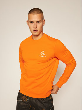 HUF HUF Суитшърт Essentials PF00101 Оранжев Regular Fit