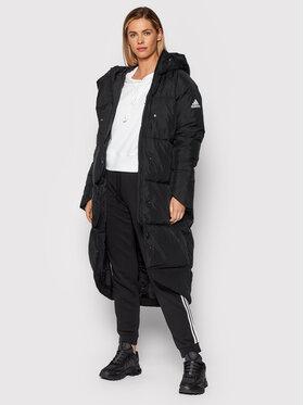 adidas adidas Пухено яке Big Baffle GT6539 Черен Relaxed Fit